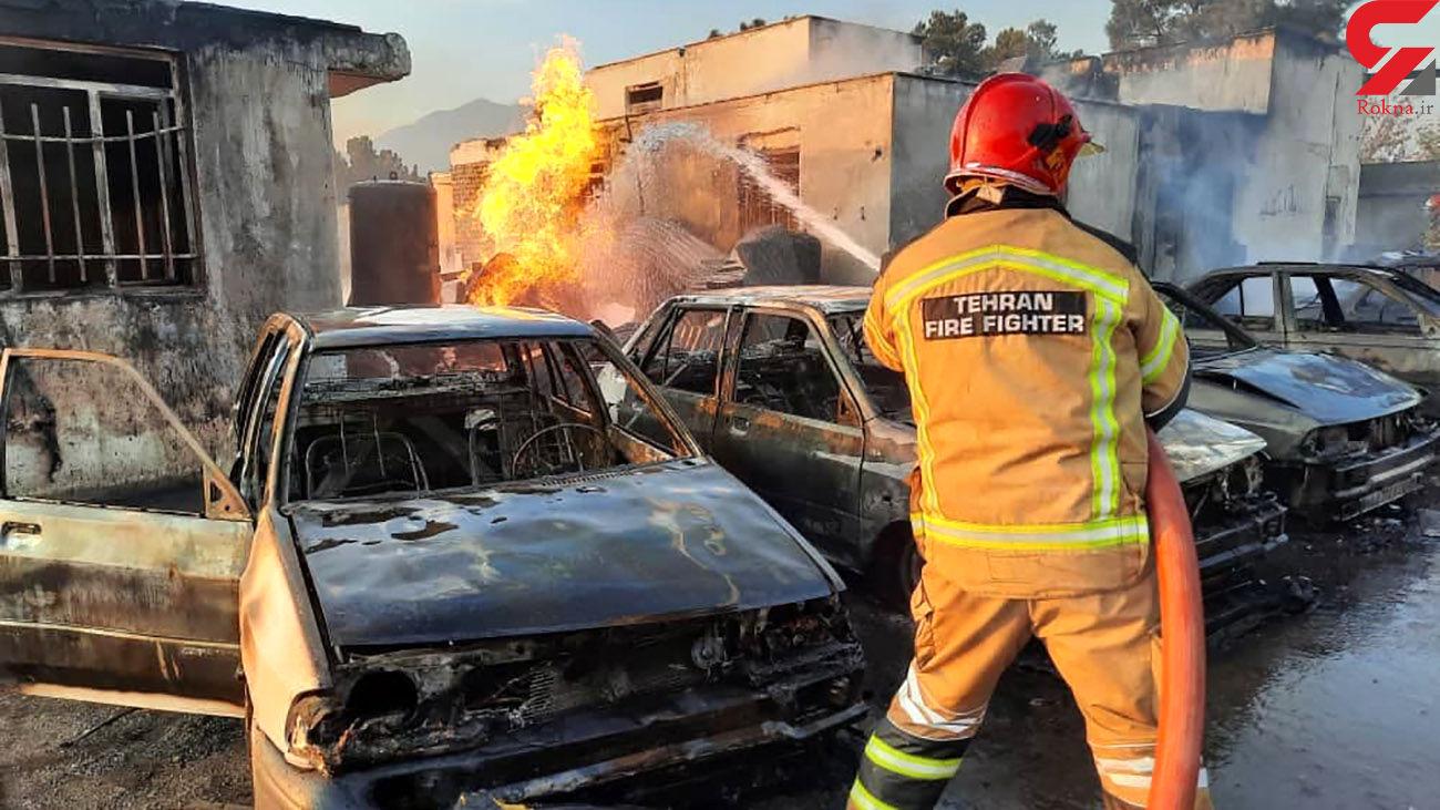 انفجار مرگبار در بلوار خودرو /یک کشته و 6 خودرو پوکیدند + فیلم و عکس