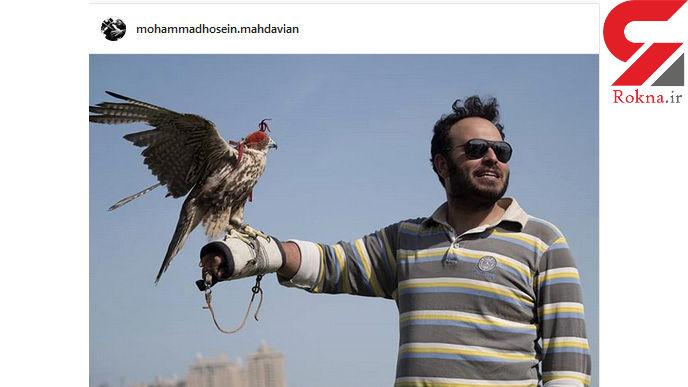 کارگردان لانتوری و شاهین بخت روی دستانش +عکس