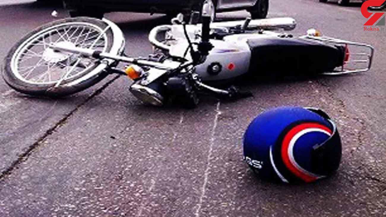 واژگونی هولناک موتورسیکلت در تهران