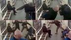 حذف عجیب فیلم ضرب و شتم وحشیانه دو پناهجو در قطار از سایت های اروپایی +عکس درگیری