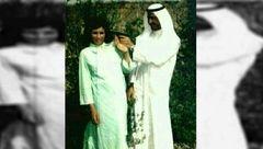 شوخی احمقانه صدام حسین با همسرش جلوی دوربین+عکس