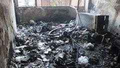 آتش سوزی منزل مسکونی در میدان گرگان