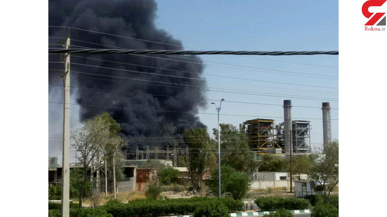 2 عکس جدید از انفجار نیروگاه برق اهواز / آتش مهار شد