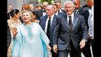 کلینتون ها در مراسم ازدواج پولدارها  +عکس