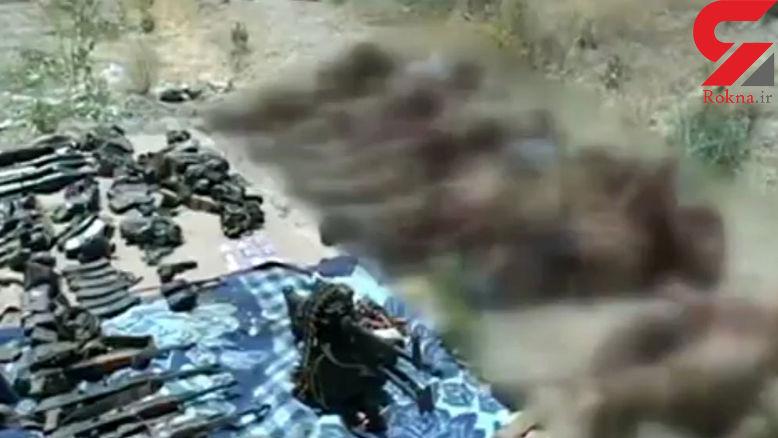 اولین عکس از جسد 11 تروریست که در اشنویه کشته شدند + اطلاعیه سپاه