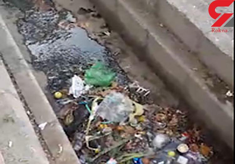 آلودگی عجیب در میرداماد تهران + فیلم