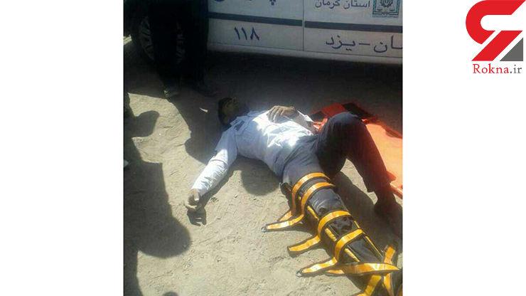 راننده ناراحت مامور پلیس راه یزد را زیر گرفت +عکس