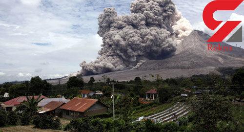 فوران کوه آتشفشانی در ژاپن