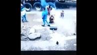 فیلم انفجار لاستیک و مرگ دردناک یک مرد