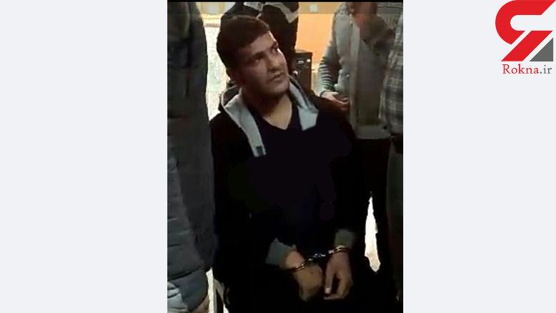 عکس هنگام دستگیری قاتل 6 زن و مرد اراکی / جزئیات قتل عام از زبان دادستان