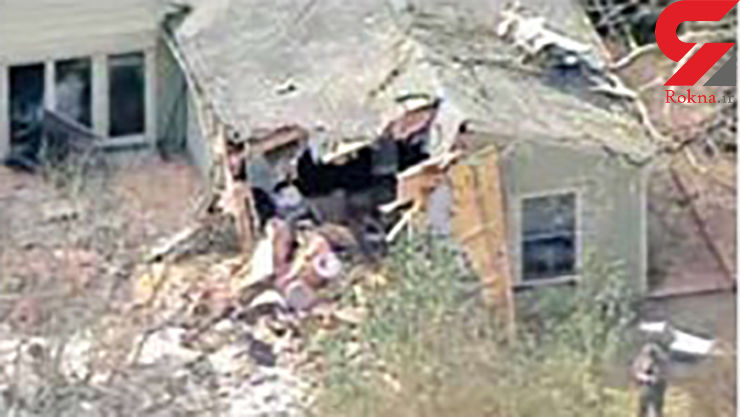 معجزه در حادثه سقوط هواپیما روی سقف یک خانه در امریکا