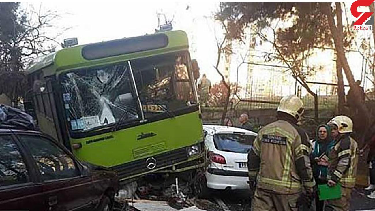 تصادف خونین  2 اتوبوس در تهرانسر با 16 مصدوم