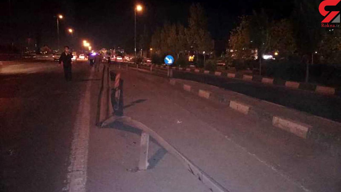 خواب آلودگی راننده نیسان در اتوبان زین الدین حادثه آفرید + عکس