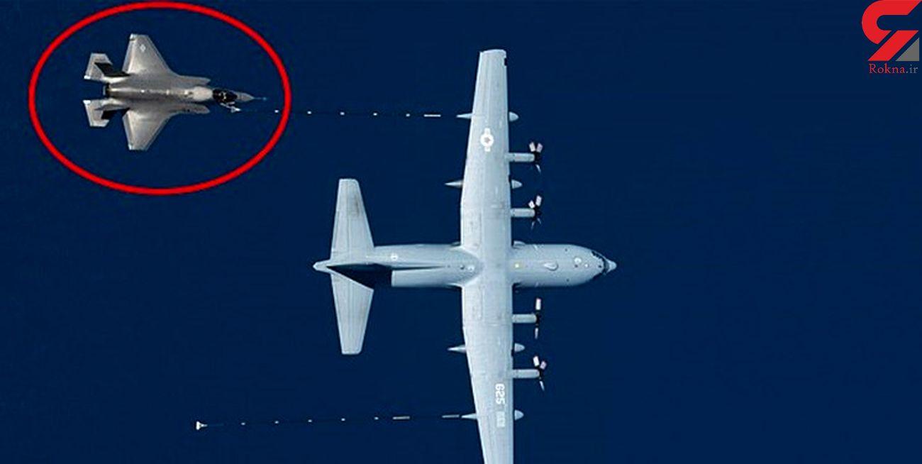 سقوط جنگنده «اف-۳۵» و هواپیمای سوختگیری هرکولس در کالیفرنیا