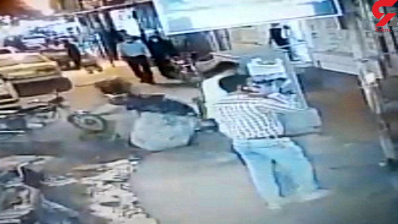 فیلم لحظه سرقت موتورسیکلت در شادگان