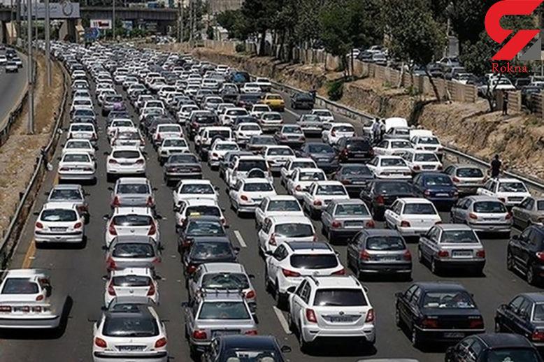رفت و آمد روان در محور هراز و چالوس / ترافیک سنگین در آزادراه قزوین_کرج