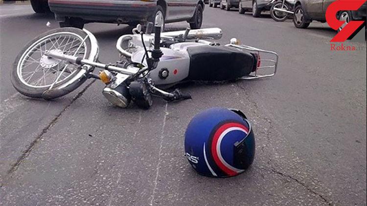 مرگ دردناک دو سرنشین موتورسیکلت در برخورد با اتوبوس در نیشابور