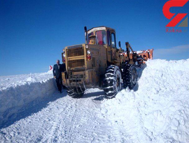 بارش شدید برف در برخی مناطق کشور / مسدود شدن راه ارتباطی بیش از 60 روستای