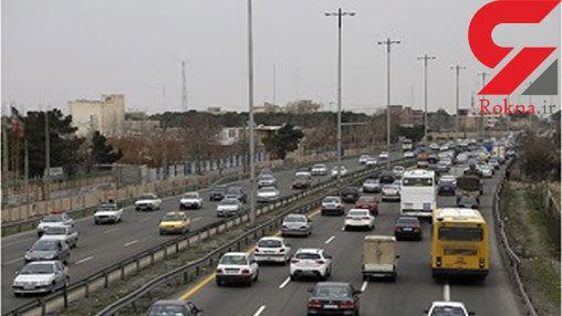 ترافیک در آزادراه قزوین- کرج سنگین است