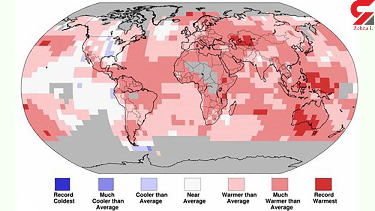 گرمای زمین در سال جاری میلادی رکورد زد