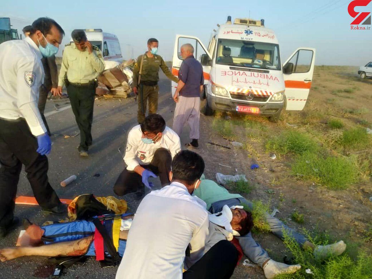 حادثه محور الیگودرز _ اصفهان ۶ مجروح برجا گذاشت| وخامت حال ۲ تن از مجروحان