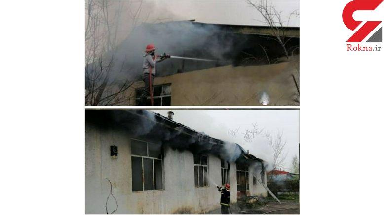 مدرسه آیتالله بروجردی فومن در آتش سوخت + عکس