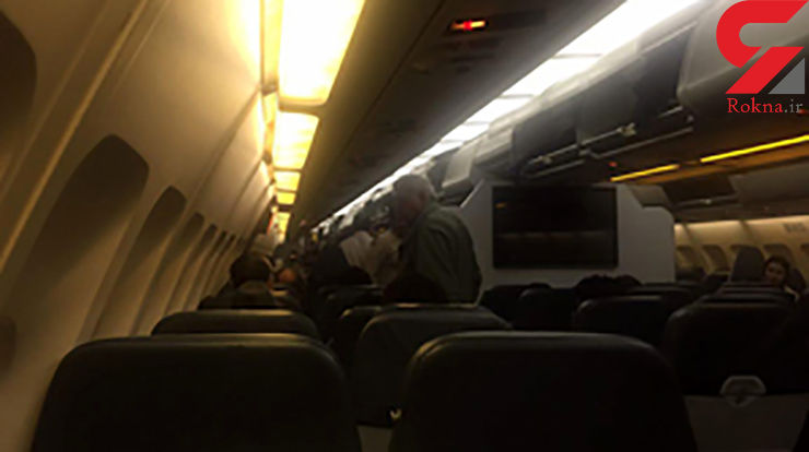 آتش گرفتن موتور هواپیمای مسافربری در آسمان تهران+فیلم