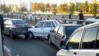 تصادف زنجیره ای در تهران به خاطر سکته راننده ریو