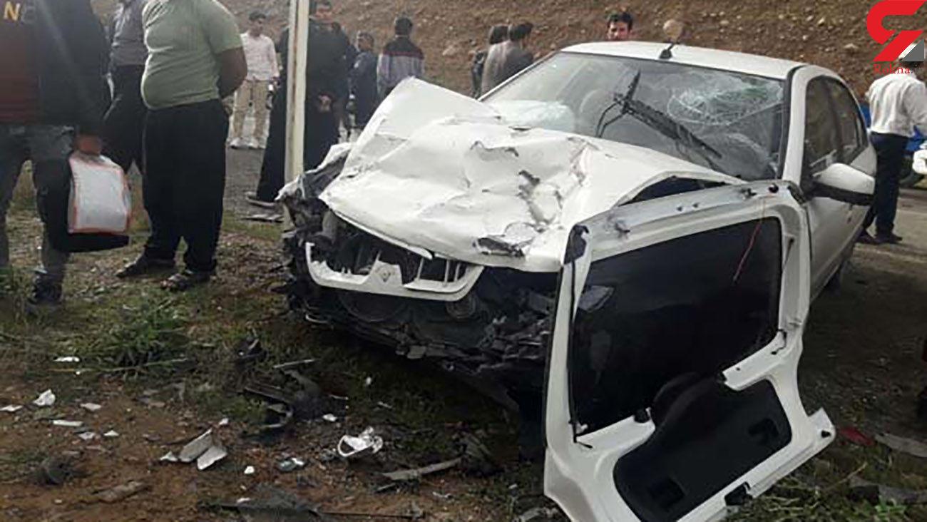 حادثه رانندگی در اردبیل با یک کشته و ۴ مصدوم