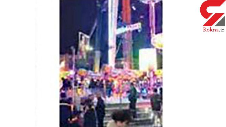 2 ساعت وحشتناک برای کودکان گیر کرده در چرخ و فلک 52 متری+ عکس