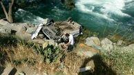 سقوط عجیب پراید در رودخانه چالوس + عکس