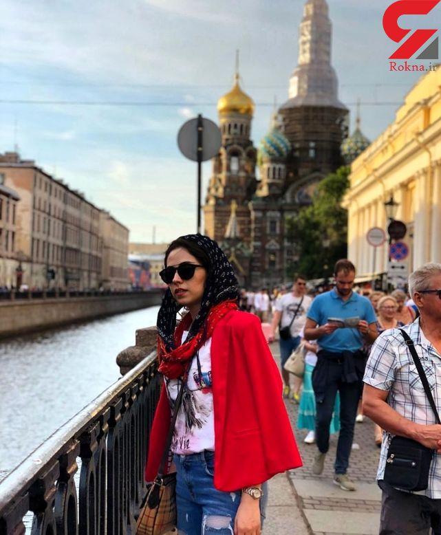 تیپ متفاوت بازیگر زن پایتخت در روسیه +عکس