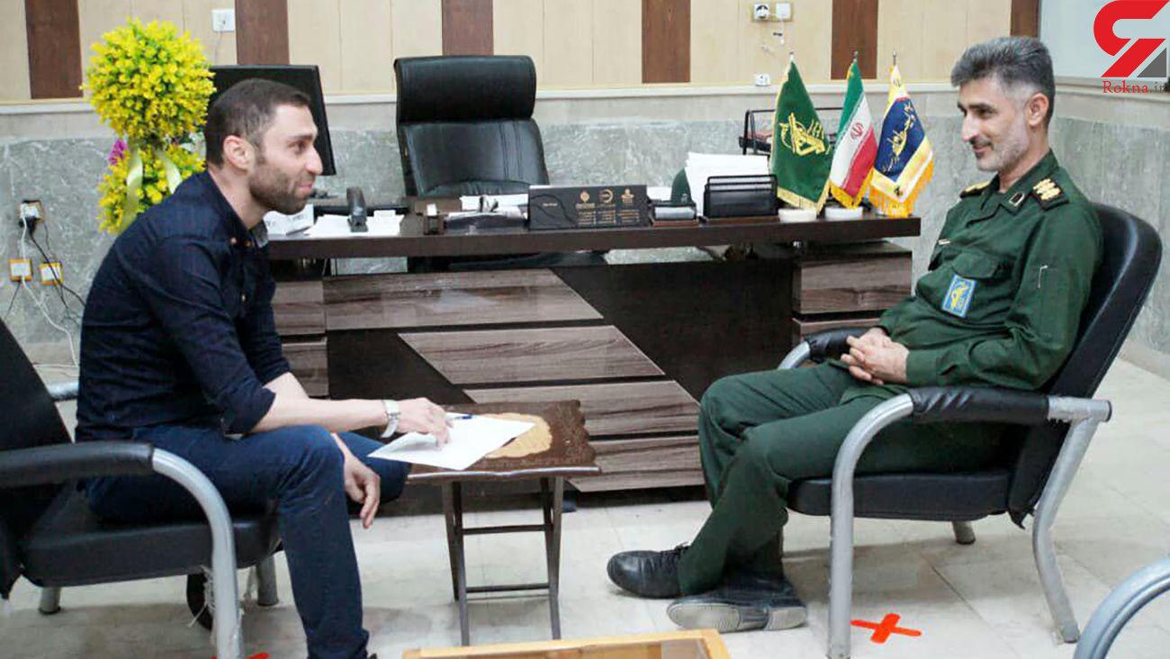 نشست تعاملی فرمانده ناحیه مقاومت بسیج آبادان با نماینده رکنا در خوزستان
