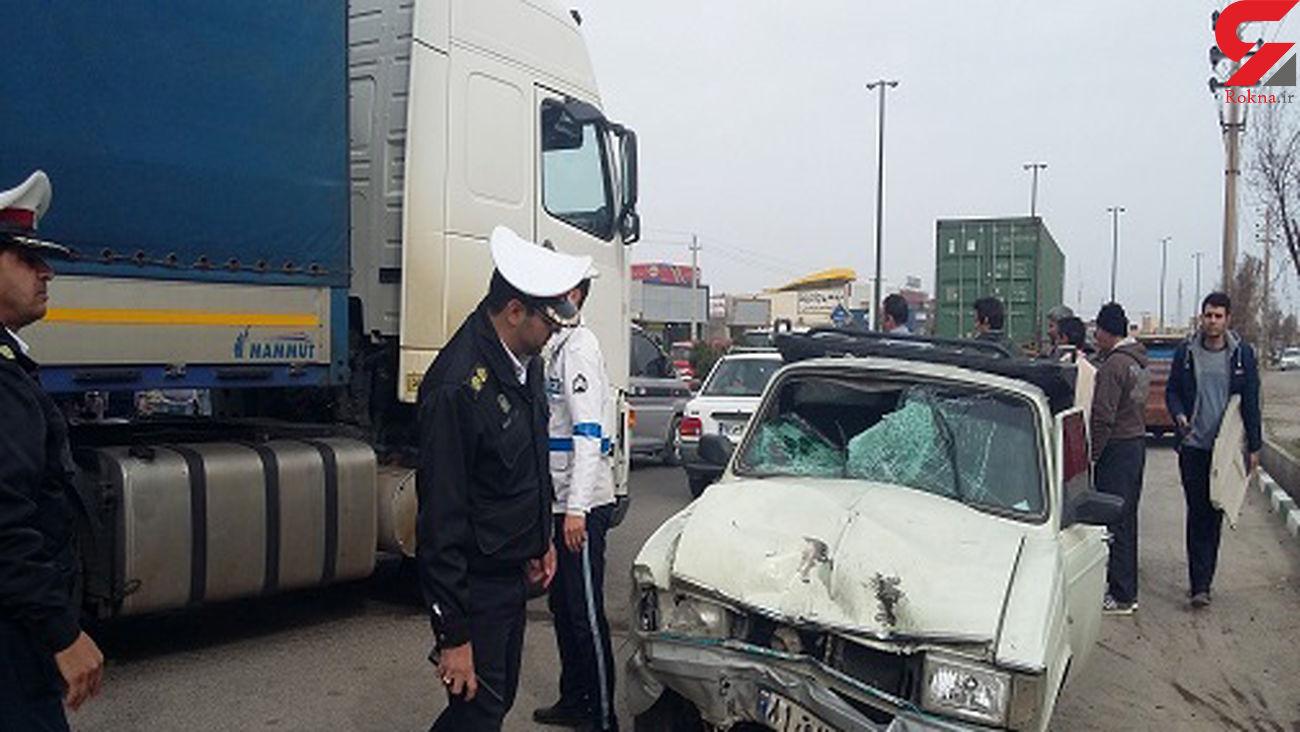 تصادف مرگبار در همدان / یک نفر در دم جان باخت