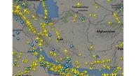 پروازهای عبوری از آسمان ایران افزایش یافت
