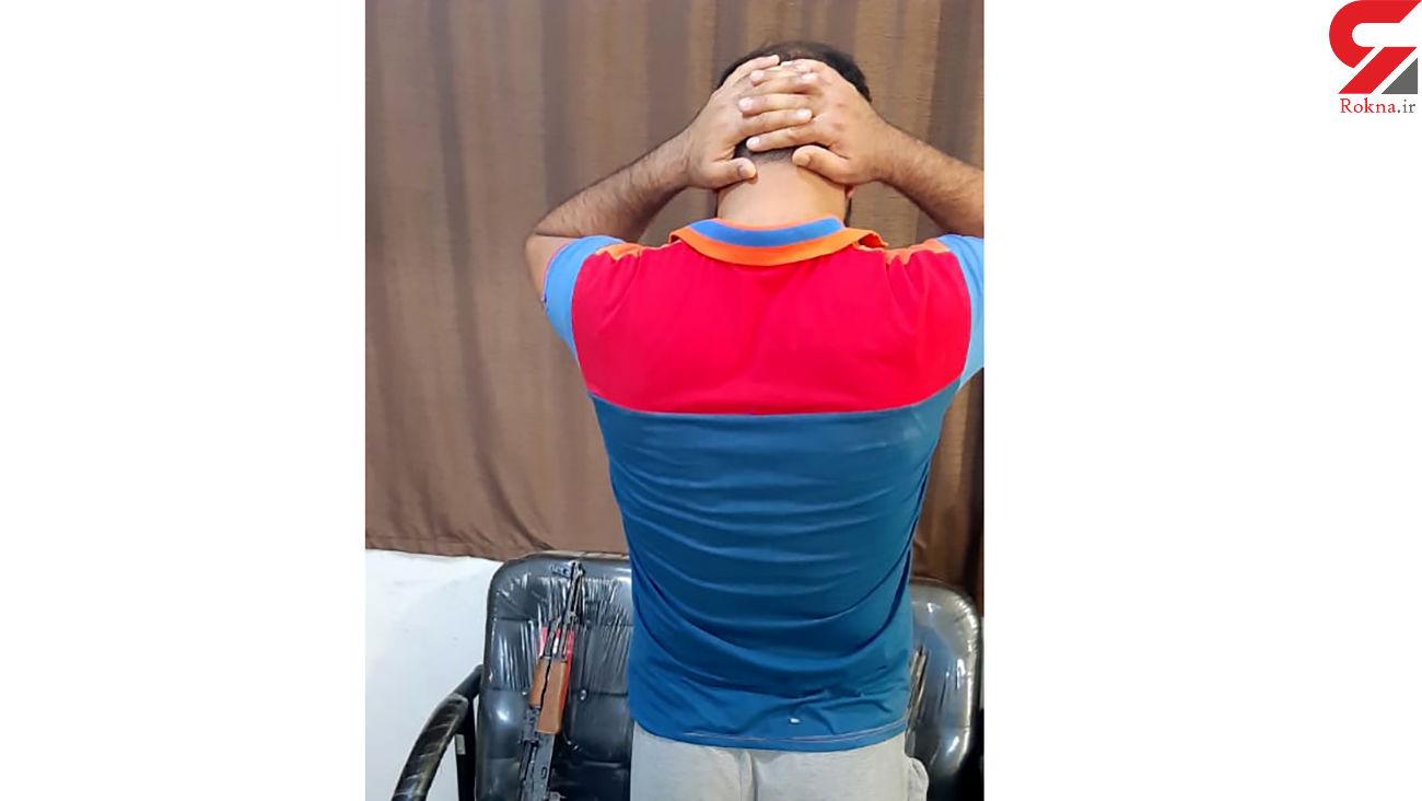 ماجرای تیراندازی در آبادان / هفت تیرکش جوان دستگیر شد + عکس
