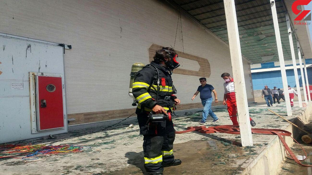 آتشسوزی وسیع در شهرک صنعتی محمدیار