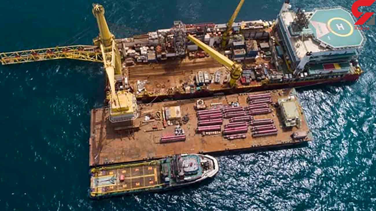 نصب اولین گوی شناور صادراتی پایانه نفتی جاسک