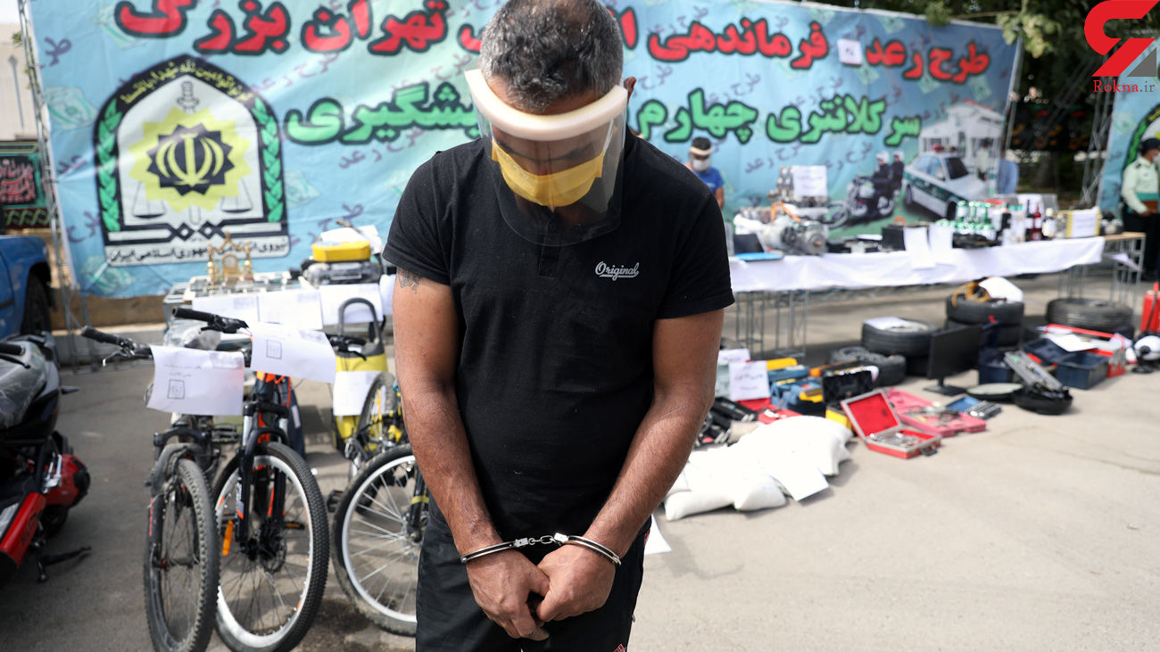 فیلم محل اصابت گلوله پلیس به ماشین مرد خطرناک! + فیلم گفتگو بعد از بازداشت
