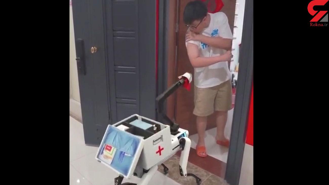 رباتی که به تزریق واکسن کرونا می پردازد + فیلم
