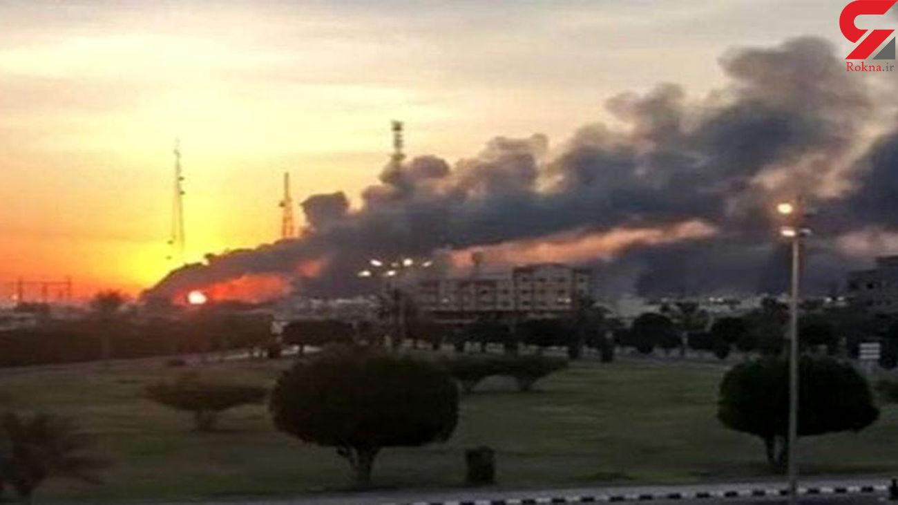 آتش سوزی در ترمینال نفتی عربستان