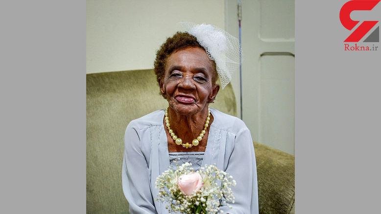 ازدواج پر سرو صدای زن 106 ساله با مرد 66 ساله +تصاویر