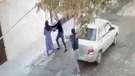 واکنش پلیس به فیلم حمله خشن 2 مرد به زن کرمانشاهی