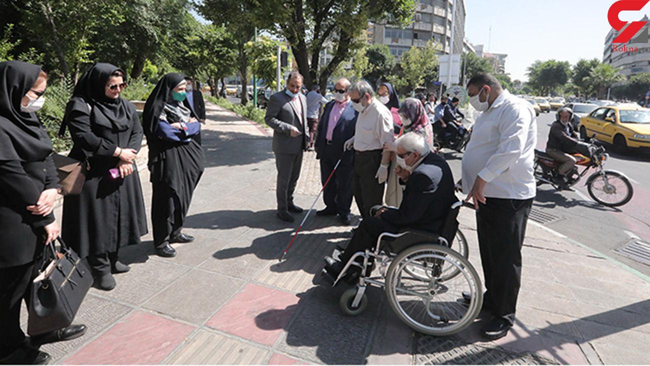 پیاده روی مدیران شهری در خیابان کریمخان / مسیر دوچرخه احداث شد