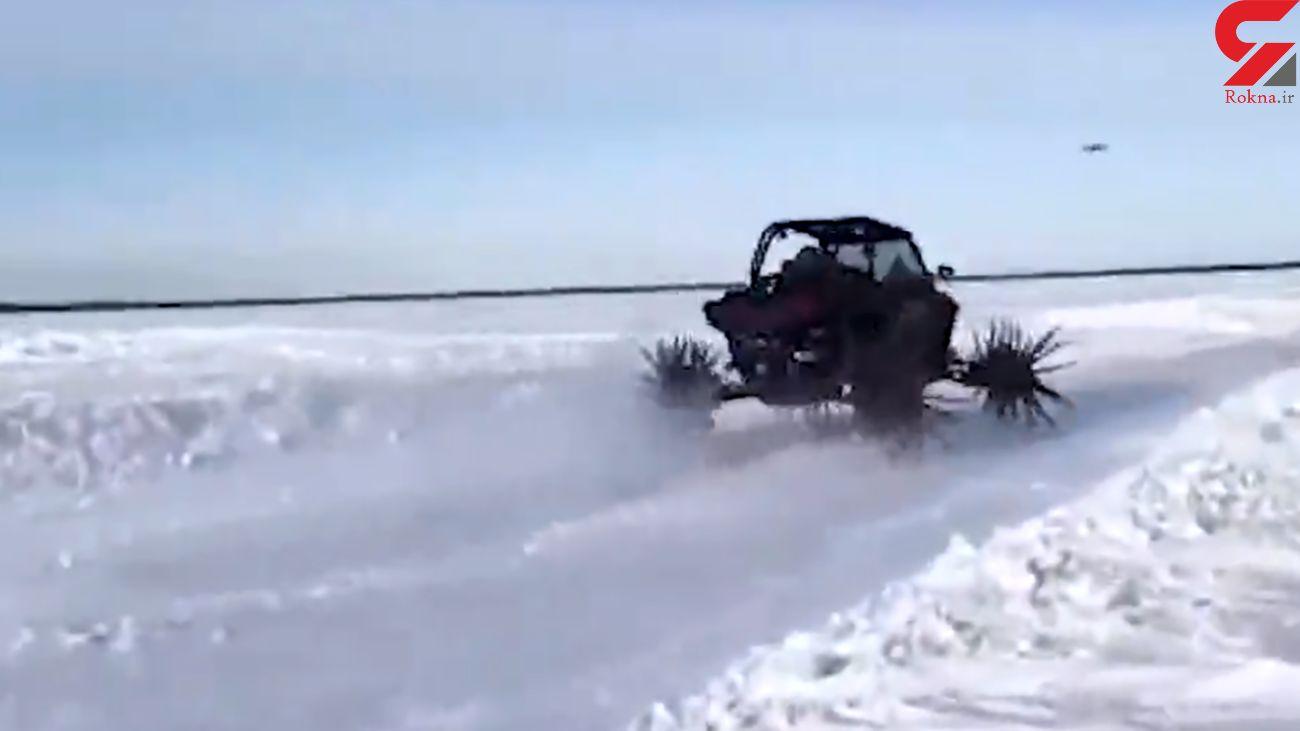ماشین عجیب برای عبور از برف + فیلم