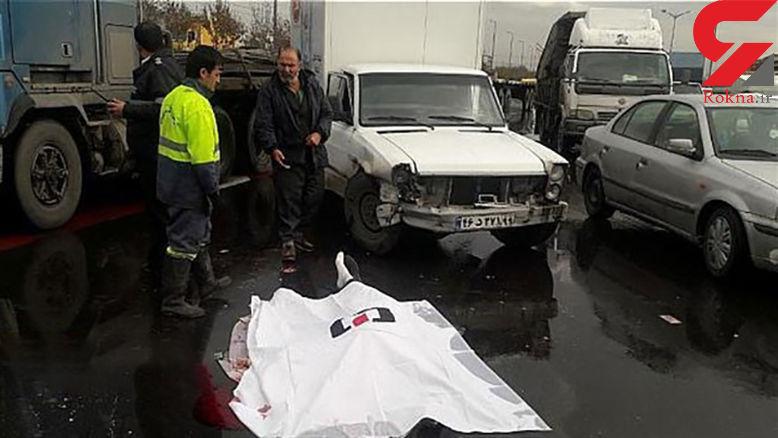 مرگ راننده جوان در  بزرگراه آزادگان +عکس