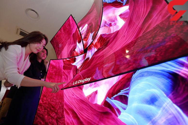 ال جی تلویزیون ۸۸ اینچی عجیبی ساخت+ عکس