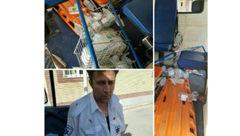 حمله افراد ناشناس به آمبولانس اورژانس بهارستان + عکس