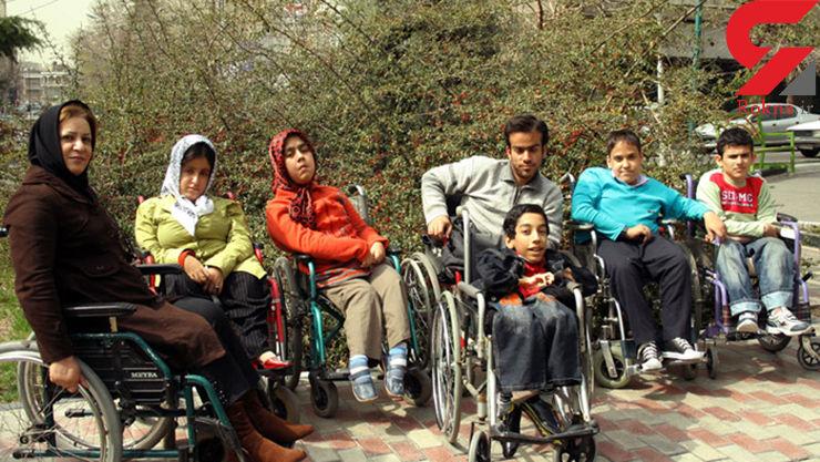 تجمع اعتراضی معلولین در چهاراه ولیعصر