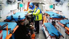 تصادف زنجیره ای  و مرگبار در عوارضی مشهد +عکس